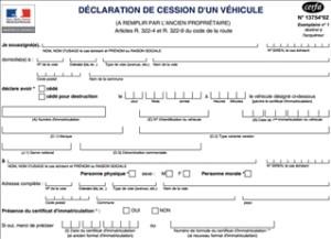 déclaration cession véhicule en ligne